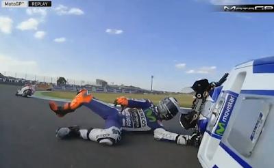 Detik-detik Lorenzo Jatuh di MotoGP Jepang