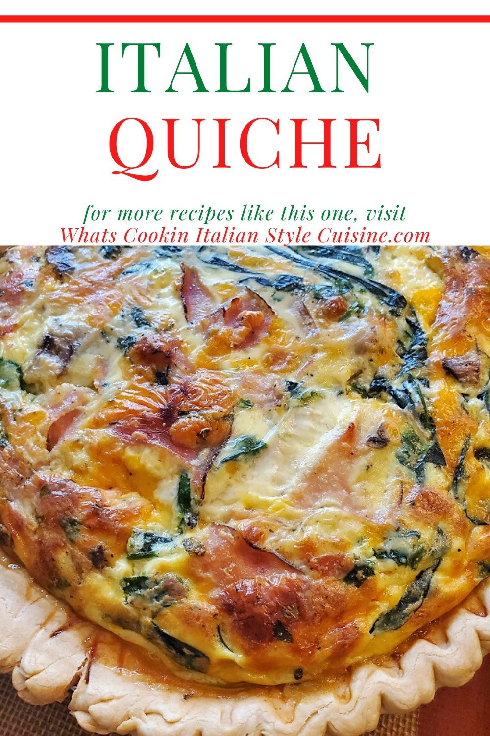this is a recipe for Italian quiche pin for later