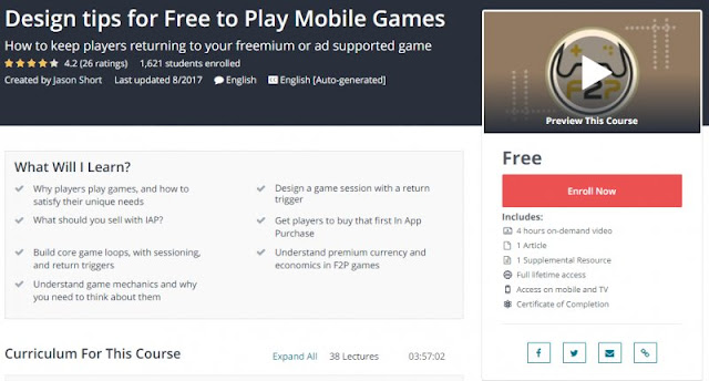 [100% Free] Design tips for Free to Play Mobile Games