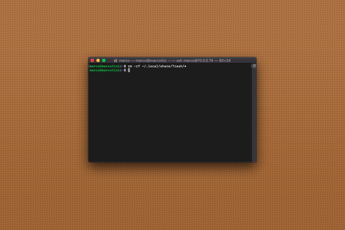 Come svuotare il cestino da riga di comando su Raspberry Pi