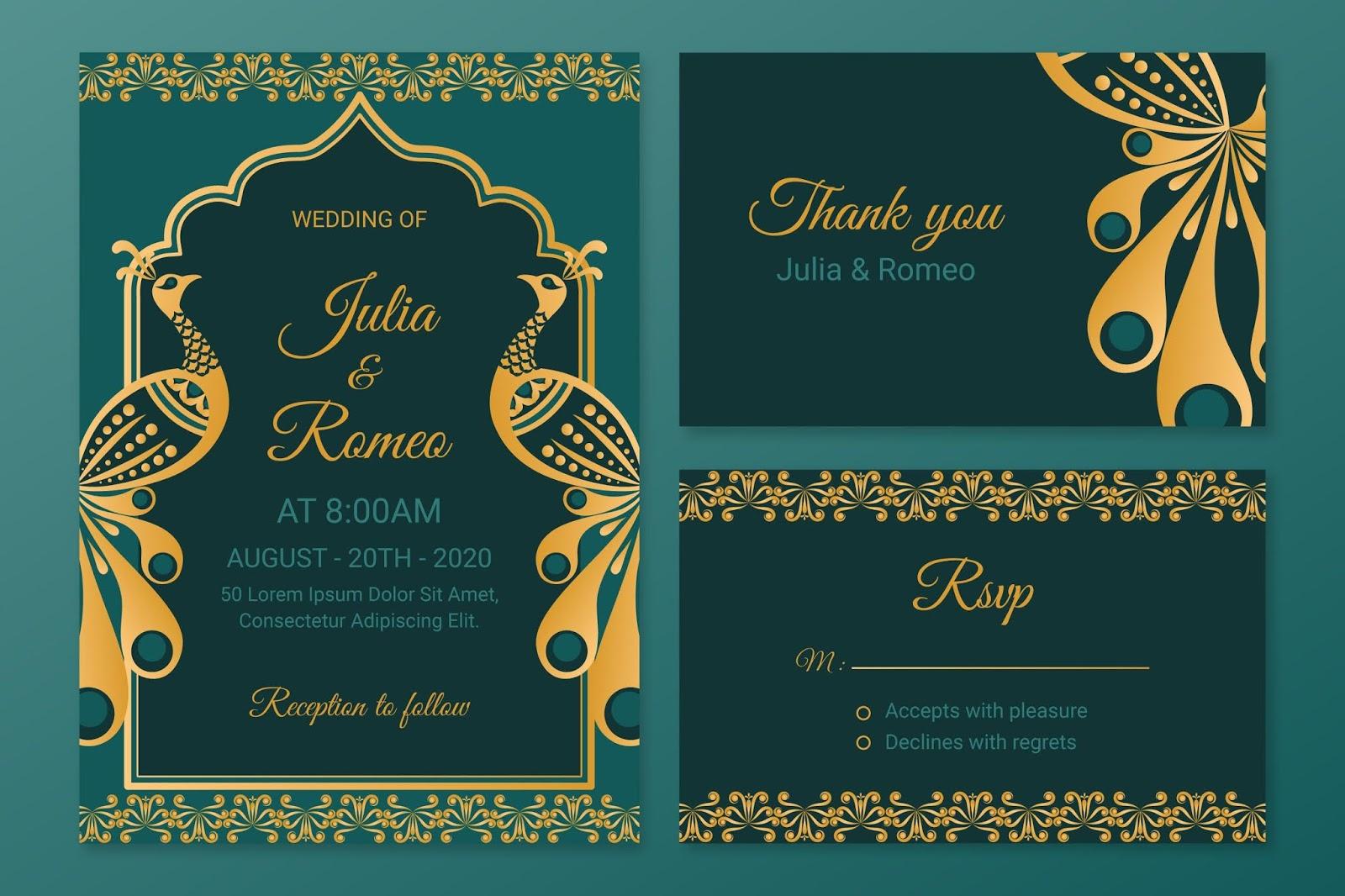 تصاميم فيكتور زخارف ونقوش لبطاقات الزفاف وكروت الدعوة بشكل اكثر من رائع
