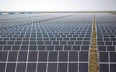 Solar energy photovoltaic modules in Northern Chile.