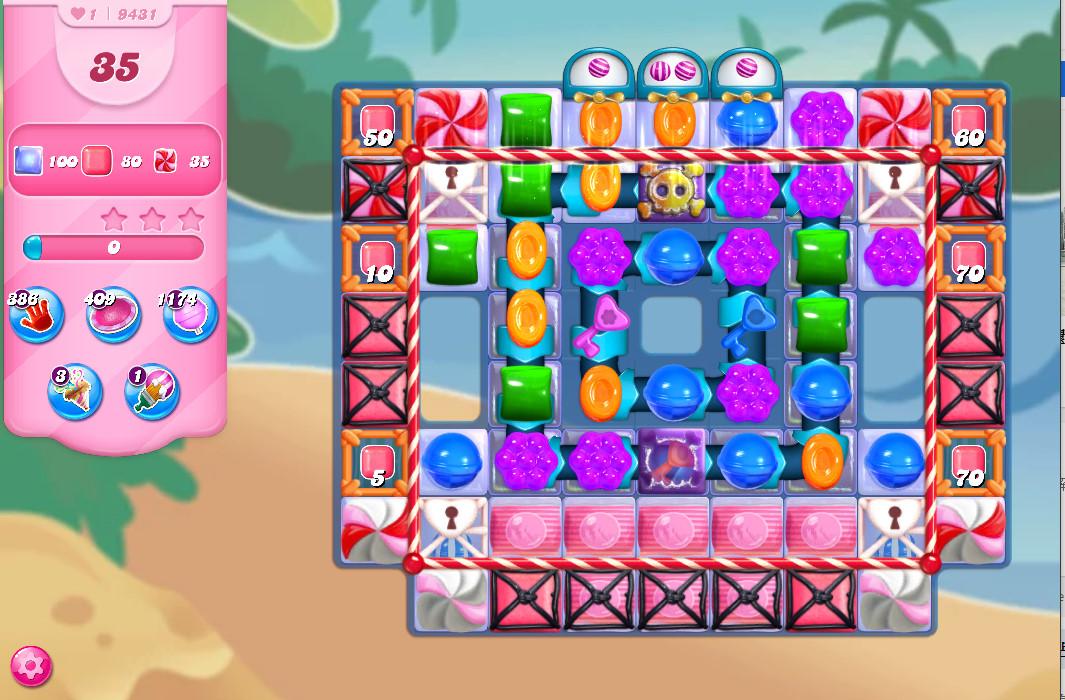 Candy Crush Saga level 9431
