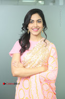 Actress Ritu Varma Pos in Beautiful Pink Anarkali Dress at at Keshava Movie Interview .COM 0081.JPG