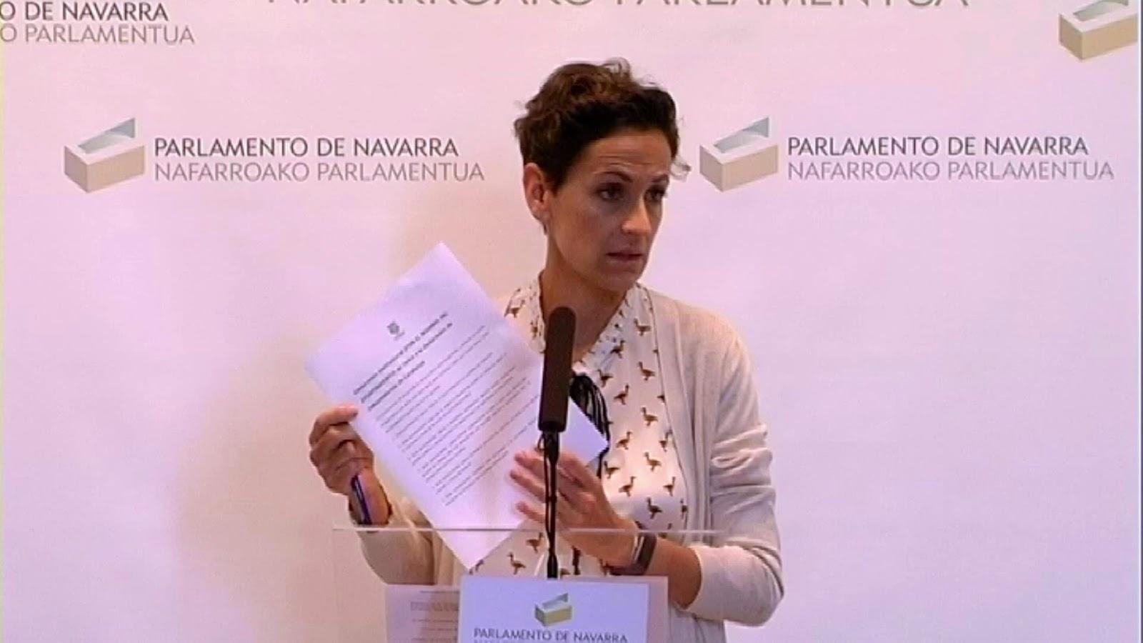 María Chivite defiende otra fiscalidad para no empobrecer a la rentas medias de Navarra