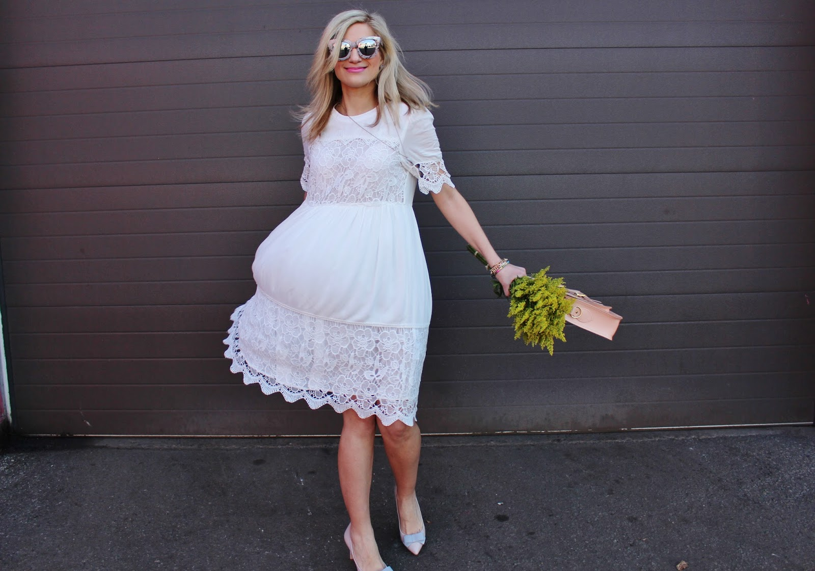 bijuleni-ethereal white lace dress and bow heels