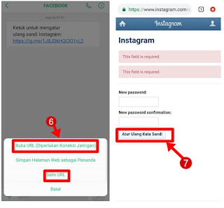 lupa password instagram tanpa email
