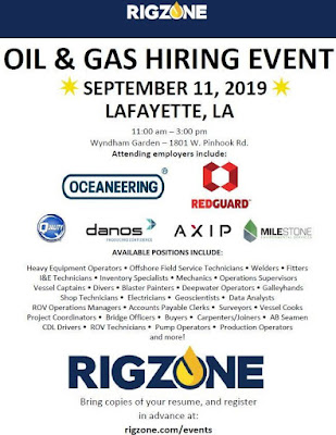 Lots of oilfield and construction positions Need filled ASAP at Sep 11th Career Fair.