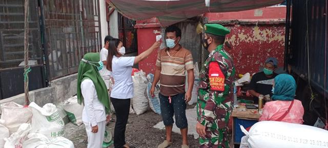 Dengan Melalui Personel Koramil 09/Tiga Balata Jajaran Kodim 0207/Simalungun Laksanakan Ops PPKM Skala Micro