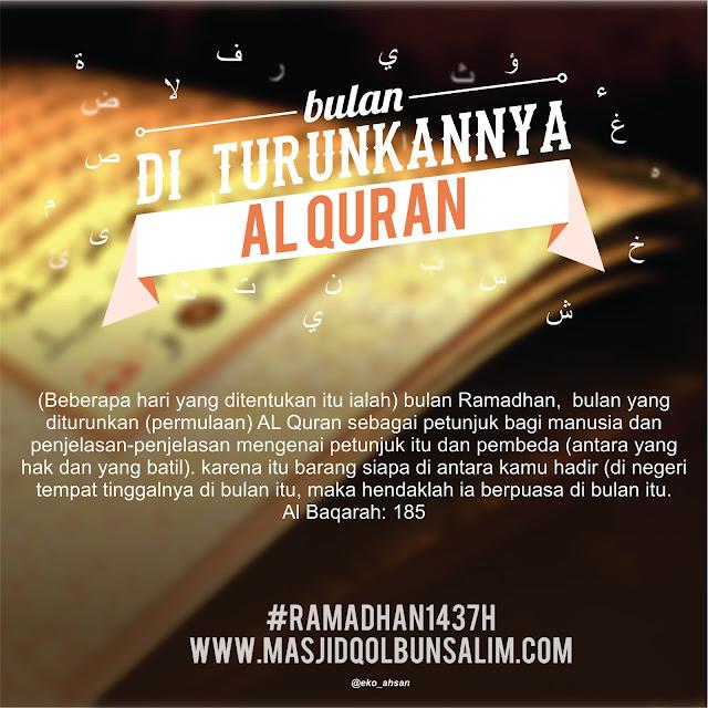 Image result for bulan ramadhan yang diturunkan