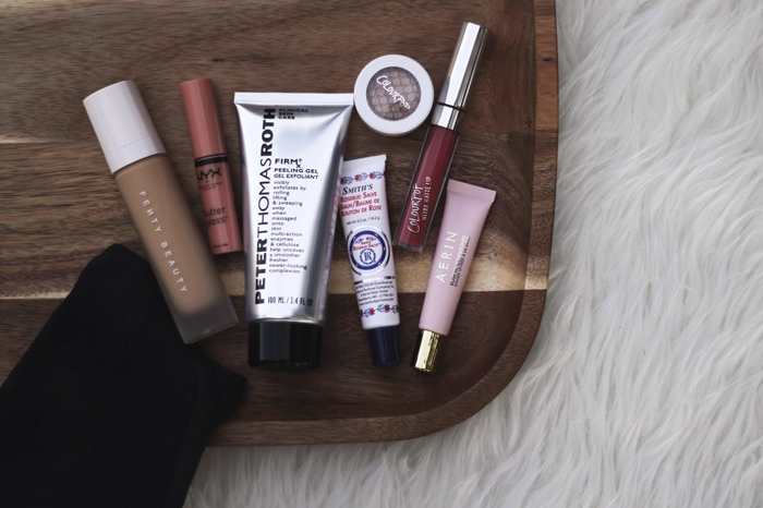 Makeup Blogger, Lifestyle Blogger, Cheap Name Brand Makeup, College Blogger, Ulta Discount, Sephora Discount, Makeup Eraser, Peter Thomas Roth Chemical Peel, NYX Buttergloss, Colourpop Liquid Lipsticks and Eyeshadow, Fenty Beauty Foundation, Aerin Rose Lip Conditioner