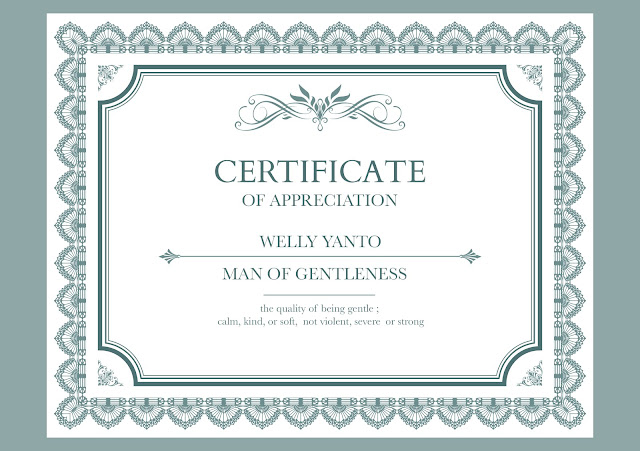 GIFT : sertifikat untuk panitia