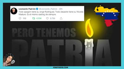 (Imagen) Venezuela Hoy a pesar que el régimen en un vil intento por ocultar las carencias en el suministro de la energia electrica en Venezuela haciendo racionamientos, la mentira no le duro mucho
