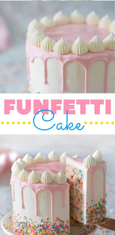 homemade birthday cake for women - funfetti cake
