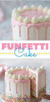 homemade birthday cake for women - funfetti cake