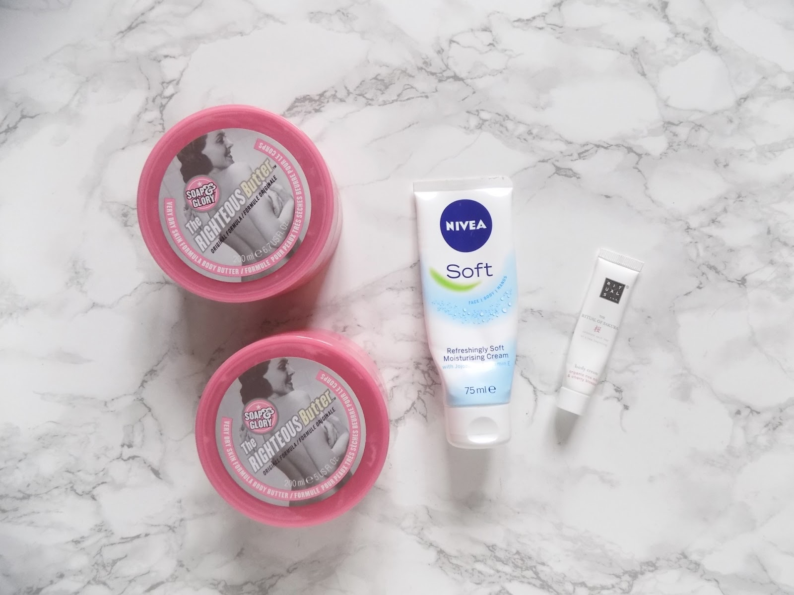 body care empties nivea soap and glory
