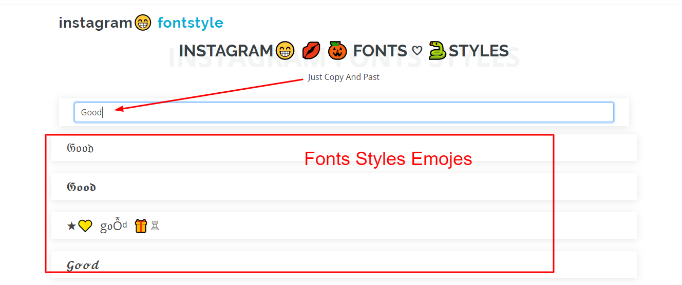 Fonts For Instagram copy and paste fonts