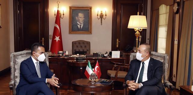 Τσαβούσογλου: Θέλουμε να συνεργαστούμε με την Ιταλία στη Μεσόγειο και τη Λιβύη