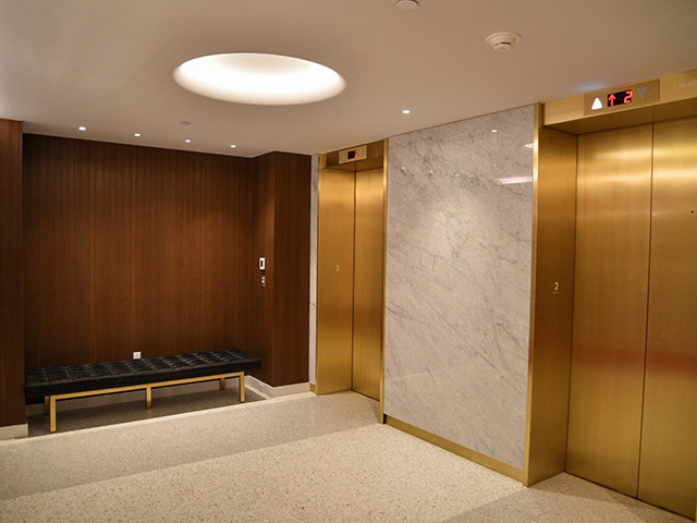 TWA Hotel JFK Gold Elevators