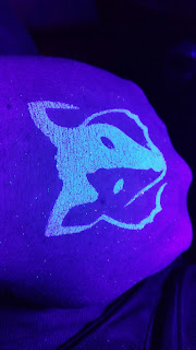 Tribal Wolf Glow Glitter Tattoo