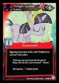 My Little Pony Twilight Sparkle, Drained Absolute Discord CCG Card