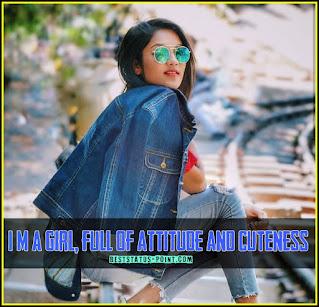 Attitude girl Status images