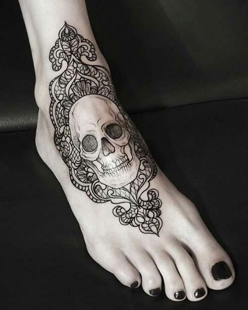 ayak dantel dövmeleri foot lace tattoos