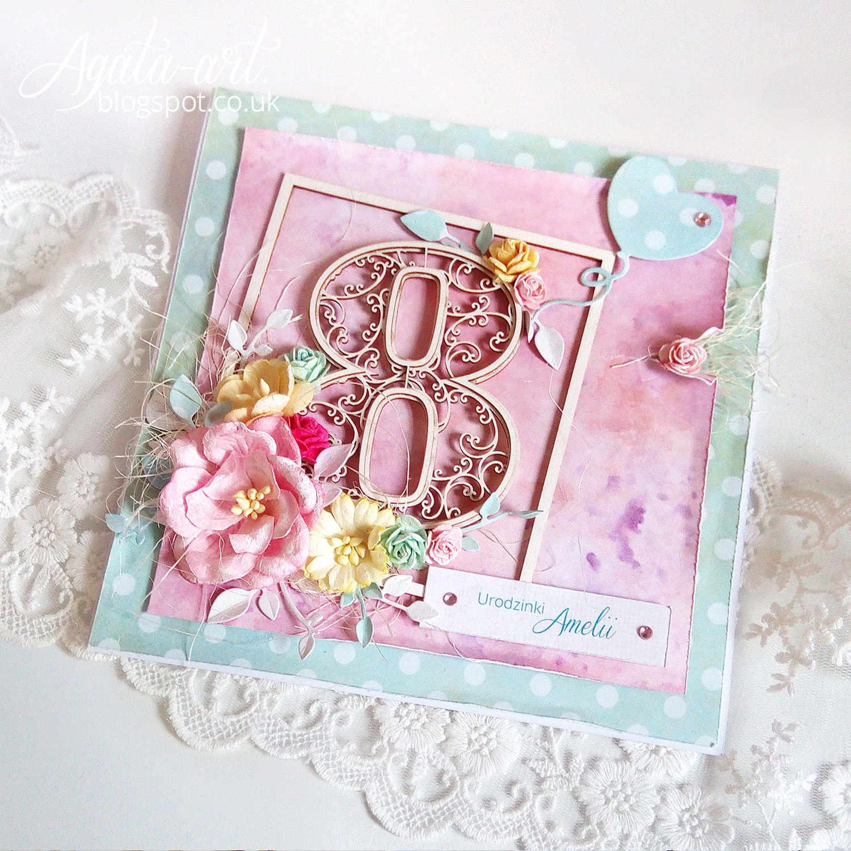 Ręcznie robiona kartka na urodziny | scrapbooking