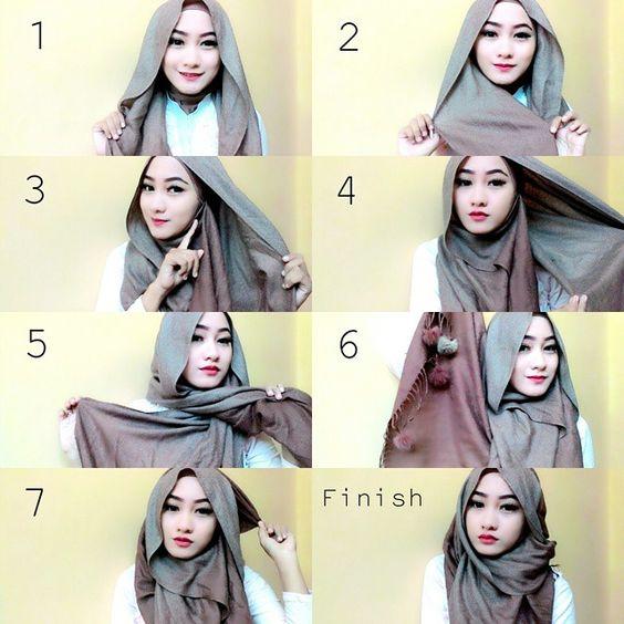 tutorial hijab segitiga 2017