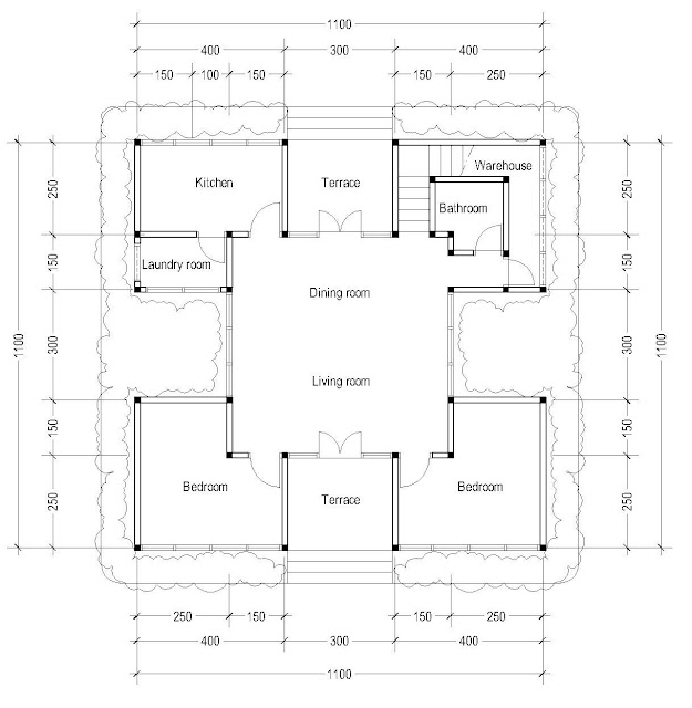 1st Floor Plan for plan c-04