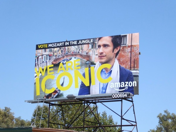 Mozart in Jungle Iconic Emmy nomination billboard
