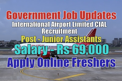 International Airport Limited CIAL Recruitment 2020