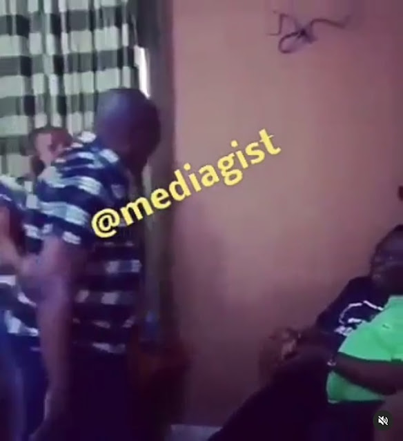 Actors Mr. Ibu And Charles Awurum Fight Dirty In Hotel Room (Video)