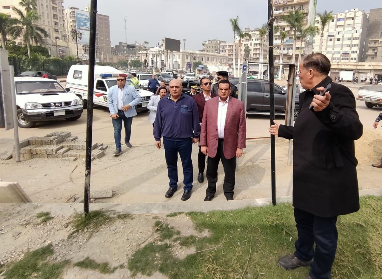 الإنتهاء من أعمال تطوير ميدان النافورة  وميدان الاوبرا  بدمنهور خلال شهر