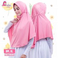 miulan hijab bpl xl bergo jilbab instan jumbo syari pink tebaru