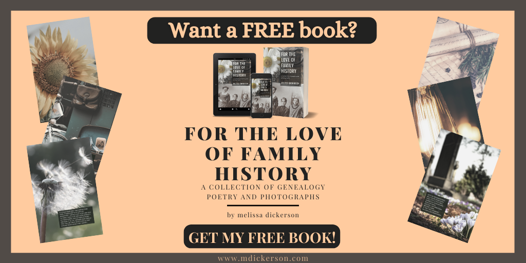 For The Love of Family History book by MDickerson.com