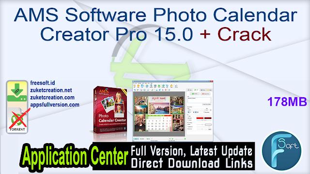 AMS Software Photo Calendar Creator Pro 15.0 + Crack