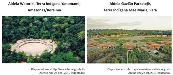 Aldeia Watoriki, Terra Indígena Yanomami, Amazonas Roraima Aldeia Gavião Parkatejê, Terra Indígena Mãe Maria, Pará