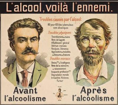 Tableau mural « L'alcool, voilà l'ennemi », Galtier-Boissière, 1900, détail (collection musée)
