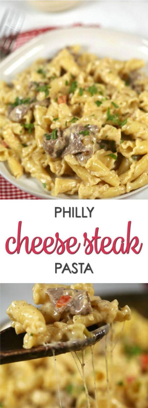 Philly Cheese Steak Pasta