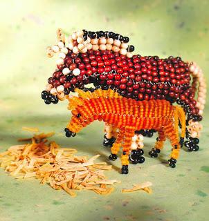 Животные из бисера объемные лошадки