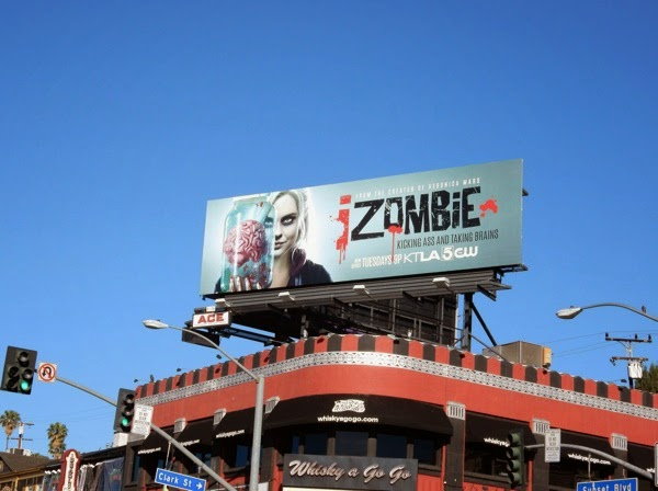 iZombie series launch billboard