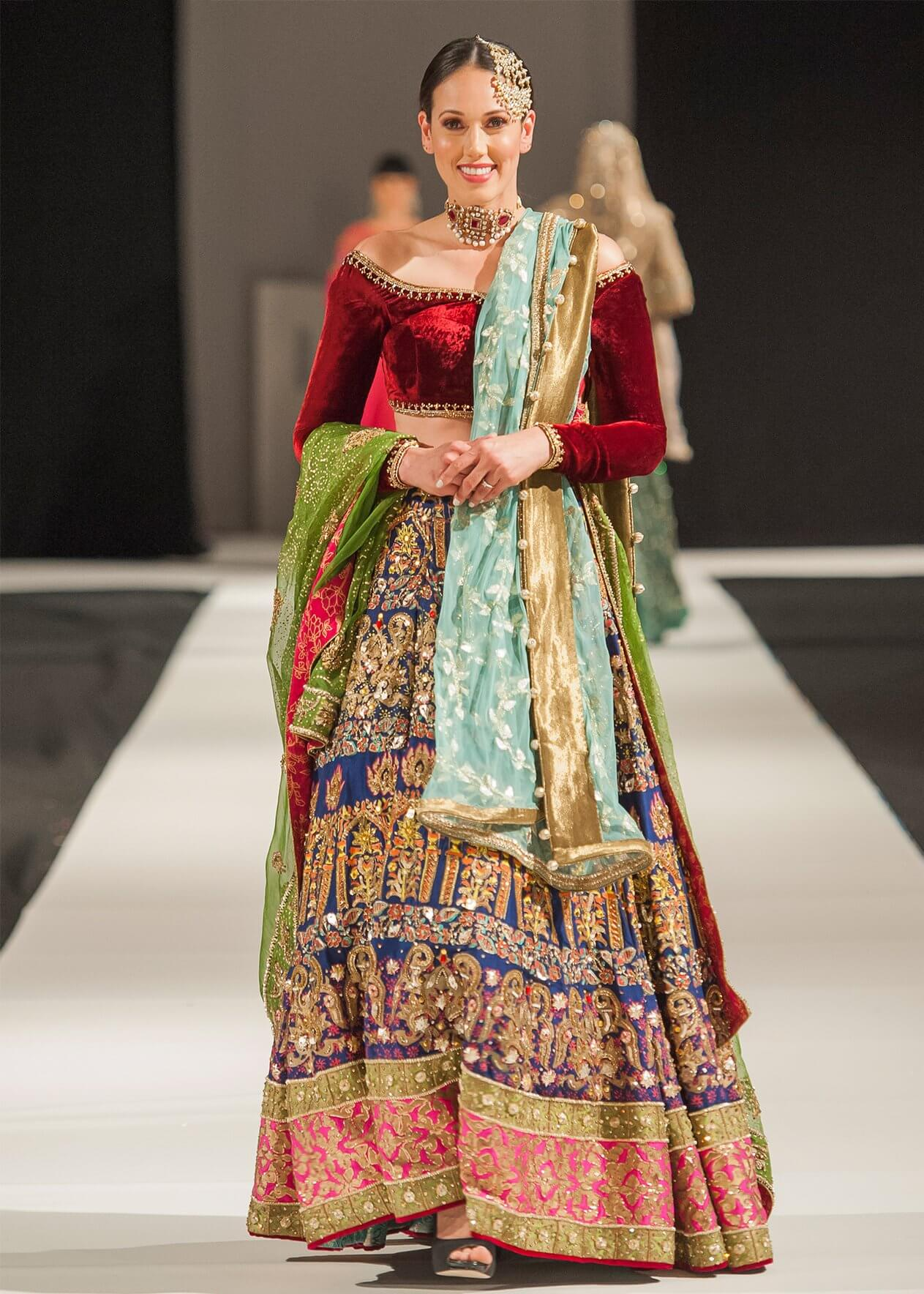 Bridal Lehnga with Velvet Blouse for a Perfect Pakistani Bride by Mohsin Ranjha Bridal Collection