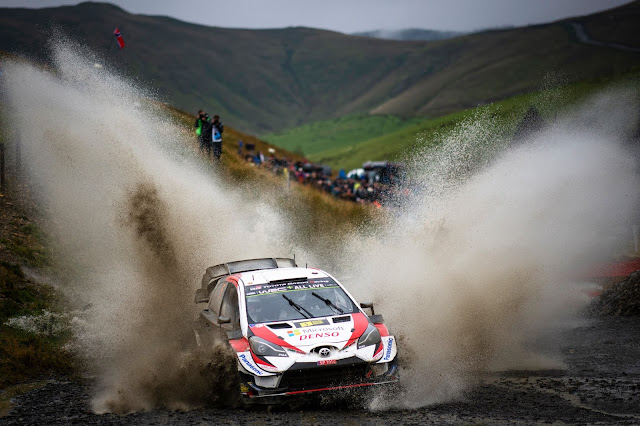Toyota Yaris World Rally Car on Wales Rally GB