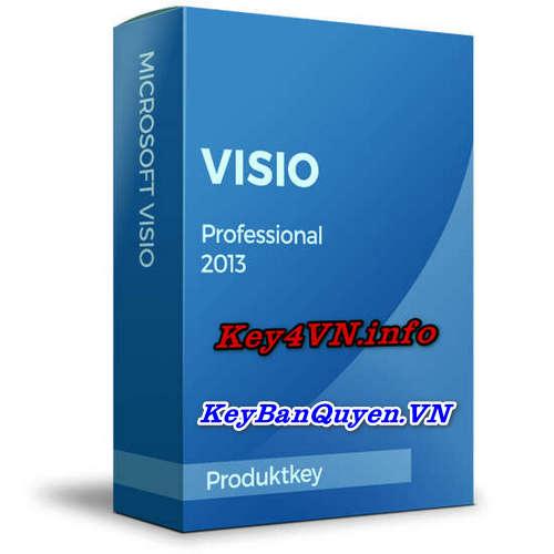 Mua bán key bản quyền Visio Professional 2013 Full 32 và 64 Bit .