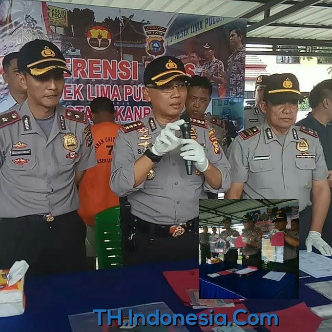 Kapolresta Pekanbaru Kombes Pol Susanto Gelar PRESS Rilis Terhadap Tersangka Penipuan