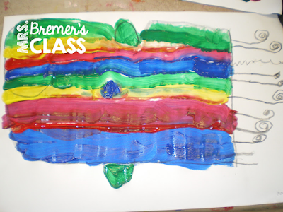 Dr. Seuss One Fish Two Fish art lesson for Kindergarten