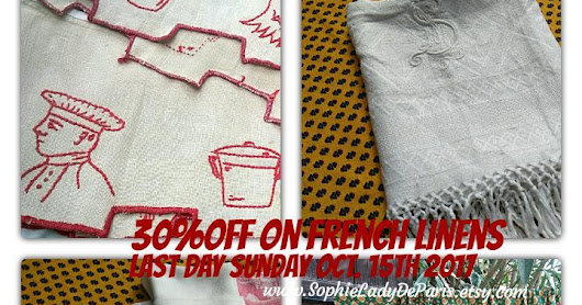 SOPHIELADYDEPARIS FRENCH LINENS ON SALE