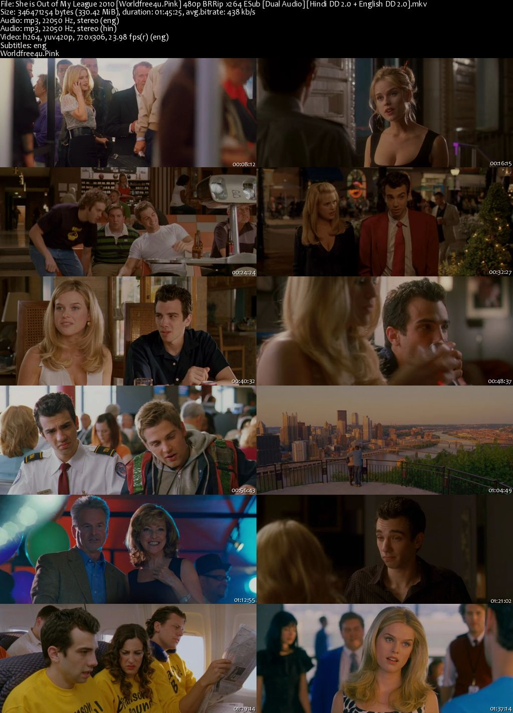 She's Out of My League 2010 BRRip 480p Dual Audio 300Mb
