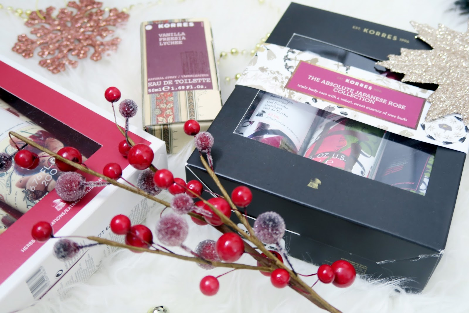 an image of korres 2016 christmas gift sets